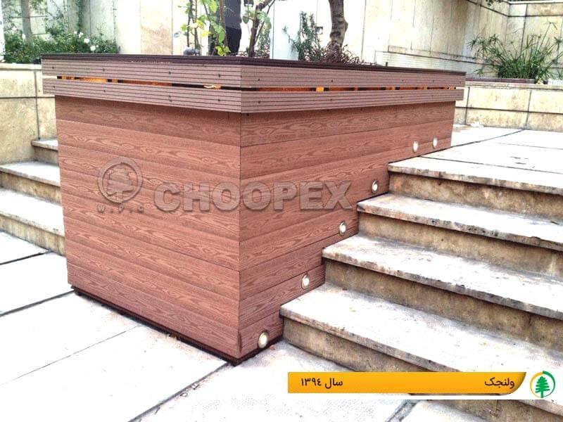 فلاور باکس های چوبی