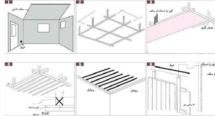 نحوه اجرای سقف کاذب