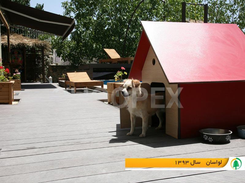ساخت خانه سگ چوب پلاست
