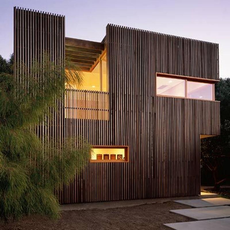 نمای چوب در معماری مدرن