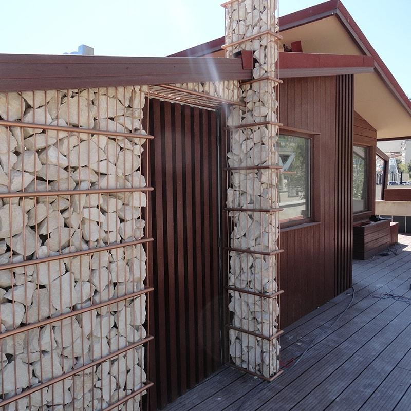 گابیون چوب پلاست سنگی نیاوران