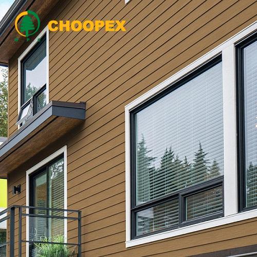 نمای چوبی ساختمان ؛ انقباض و انبساط کمتر