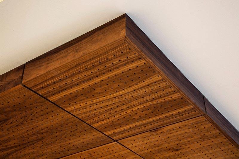 اجرای سقف کاذب چوبی