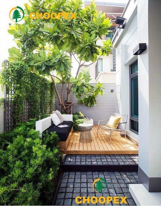 طراحی تراس با گیاهان سبز