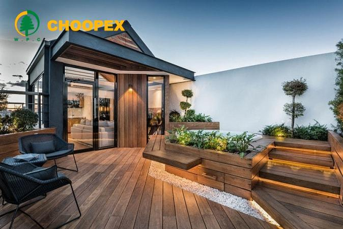 آلاچیق یا سایه بان در بام سبز | طرح آلاچیق پشت بام