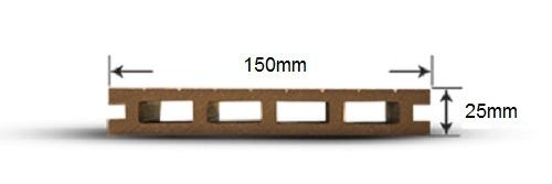 پروفیل چوب پلاست LT