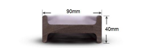 پروفیل چوب پلاست T1