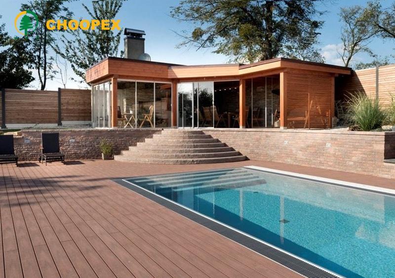 طراحی ویلای مدرن با چوب پلاست