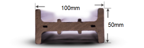 پروفیل چوب پلاست T2
