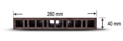 پروفیل چوب پلاست KT