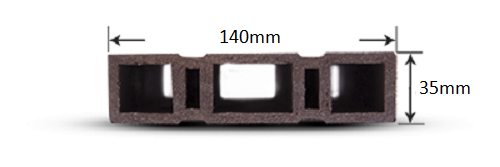 پروفیل چوب پلاست RP2
