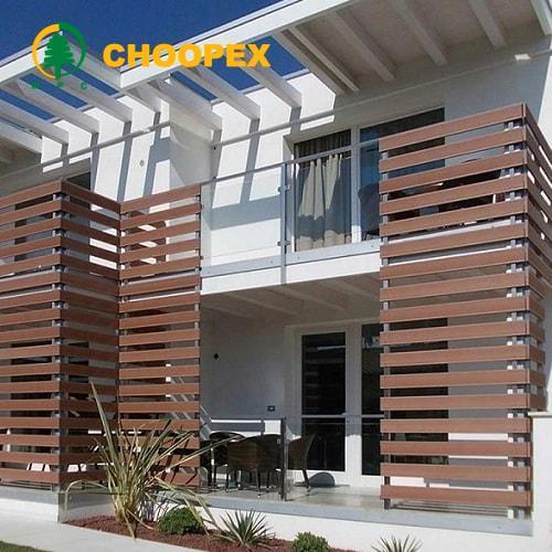 نمای چوبی ساختمان مسکونی و طراحی متفاوت