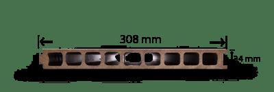 پروفیل چوب پلاست K2