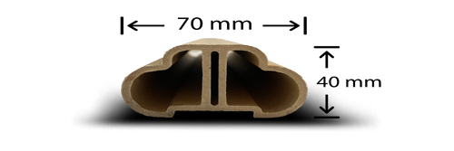 پروفیل چوب پلاست H2