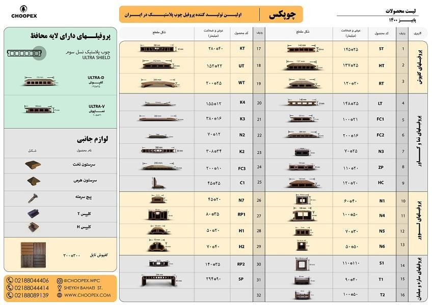 قیمت چوب پلاست تهران